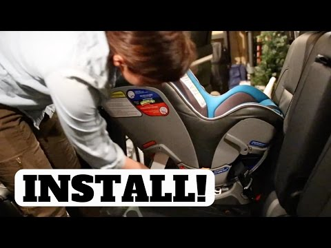 How To Install Chicco NextFit Convertible Car Seat (Forward & Rear Facing Tutorial)
