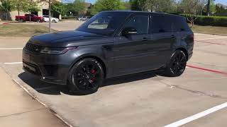 Pre-Owned 2018 Land Rover Range Rover Sport HSE Dynamic 3RDRowSeats REAR DVD/Entertainment 21Alloys BlackOut Pkg