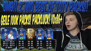FIFA 16 TOTY PACK OPENING DEUTSCH  FIFA 16 ULTIMATE TEAM  OMG 100K PACKLUCK PACKS 10x86 + IF