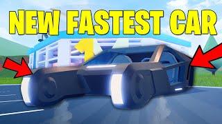 NEW FASTEST CAR IN JAILBREAK? JAILBREAK BLADE VEHICLE UPDATE! NEW RADIO +HELICOPTER LIGHT (ROBLOX)