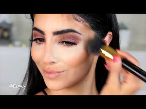 Beautify By Amna 24k Gold & Roses Serum, Porfade Primer, Brushes, Foundation Blender