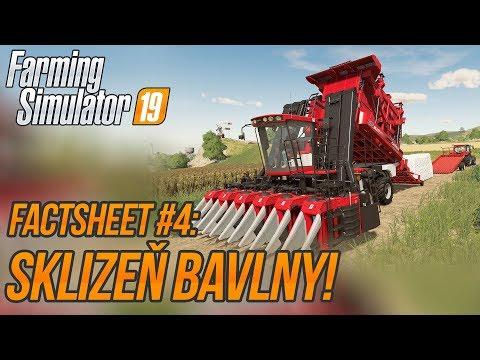 SKLIZEŇ BAVLNY! | Farming Simulator 19 FactSheet #4