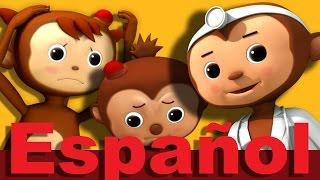 Cinco monitos | Parte 2 | Canciones infantiles | LittleBabyBum