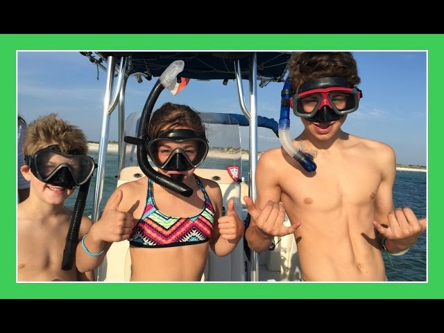 SNORKELING AT SHELL ISLAND | Day 2 Florida Celebration Vacation | Flippin' Katie