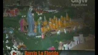 preview picture of video 'Pesebre La Florida (visita Citytv)'