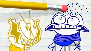Mini Pencilmate Takes His Revenge! -in- SHOCK AND ROLL | Pencilmation Cartoons for Kids
