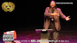 Hiphopcore Special: Hiphop lecture by KRS-ONE in Amsterdam part one