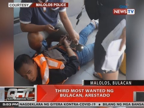 [GMA]  QRT: 3rd most wanted ng Bulacan, arestado