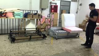 Como es el interior del sofa cama sistema italiano