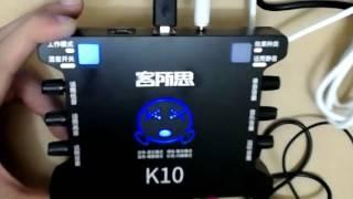 Hướng Dẫn Sử Dụng Sound Card XOX K10 (KS108) Trên điện Thoại