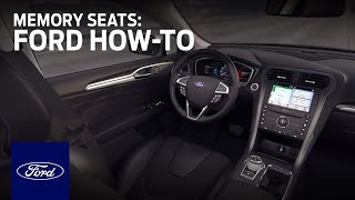 How to Set Up Memory Seats | Ford How-To | Ford