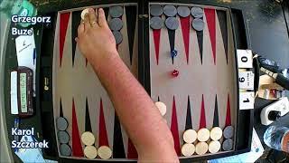 III Mistrzostwa Polski w Backgammona - Ćwierćfinał - Karol Szczerek vs Grzegorz Buze