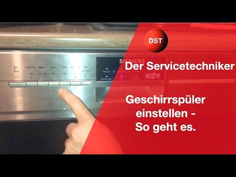 Wasserhärte und andere Einstellungen Bosch/ Siemens Spülmaschinen