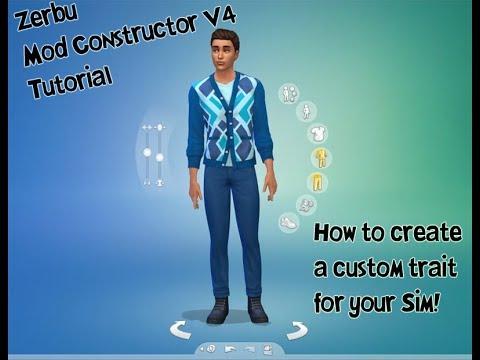 Create a Custom Trait - Sims 4 - Zerbu's Mod Constructor V4