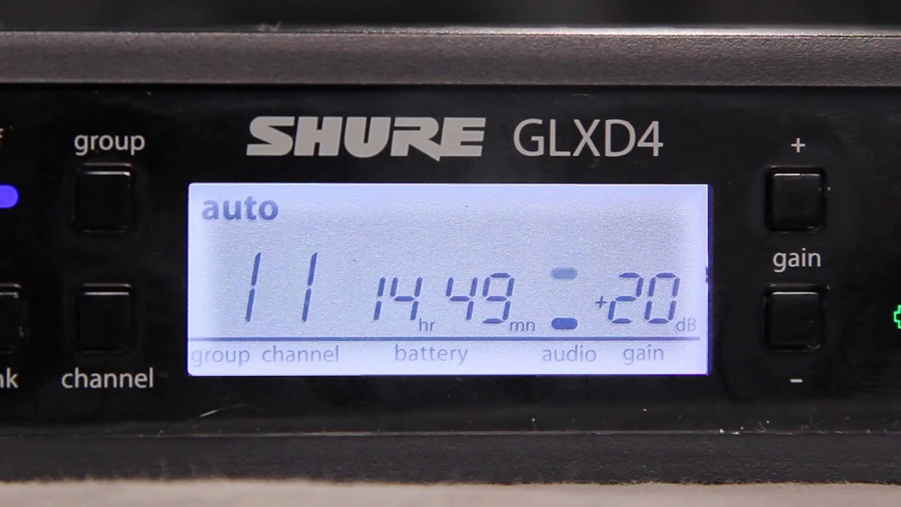 How To Adjust the Gain on a Shure GLX-D Digital Wireless System