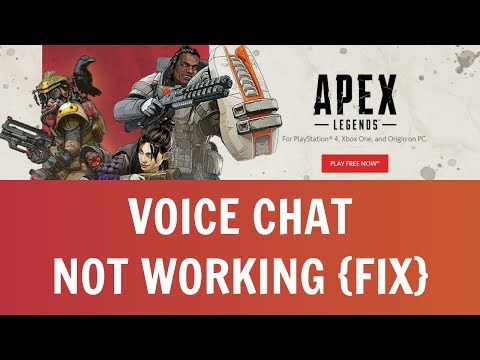 How To Fix Apex Legends Voice Chat PC, PS4 & Xbox!! (Voice Chat Not Working Fix)