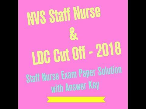 NVS Female Staff Nurse non teaching exam cutoff 2018