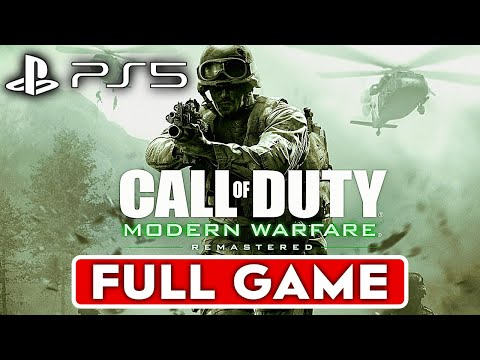 CALL OF DUTY 4 MODERN WARFARE REMASTERED PS5 Gameplay Walkthrough Part 1 Campaign FULL GAME 4K 60FPS