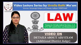 Details about Additional District Judge (ADJ) Exam