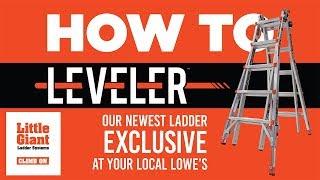Little Giant Ladders   Leveler   How-To