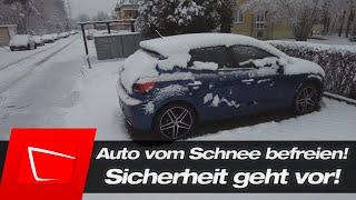 Auto von Schnee befreien - Schnee entfernen mit Schneebesen - APA Schneebesen Deluxe im Test