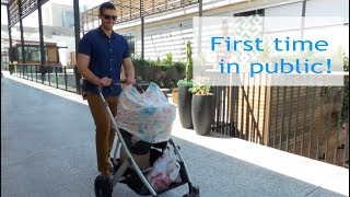 Taking our newborn out for the first time!