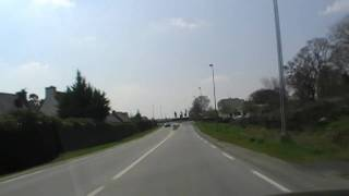 preview picture of video 'Driving Along Boulevard Jean Moulin D264, Carhaix-Plouguer, Brittany, France 12th April 2010'
