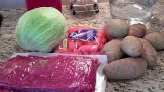 Corned Beef, Cabbage, Potatoes, and carrots Irish meal made easy!