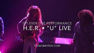 "H.E.R. Performs ""U"" Live for First Time Ever"