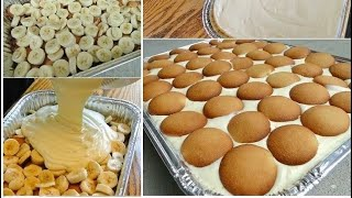 🍰My Famous Easy LOADED Banana Cookie Pudding CAKE   Cooking w/ Ashley   Highly Requested