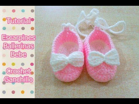 bb8510080 Como tejer escarpines para bebes de 0 a 3 meses. Realizados en crochet. Te  invito a ver mi nuevo tutorial de escarpines zapatillas https://youtu.be/  ...