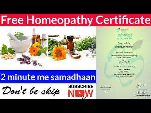Homeopathy Free Medical Certificate | Medical Courses Online ...