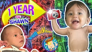 1 YEAR OF SHAWN! One Picture Daily Vlog 🎁 Babys First Birthday FUNnel Vision Learning Candles