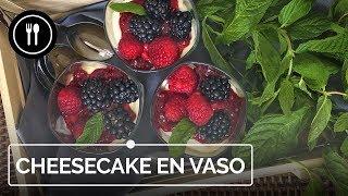 Receta de cheesecake en vasito sin horno, más fácil y rápida ¡imposible!