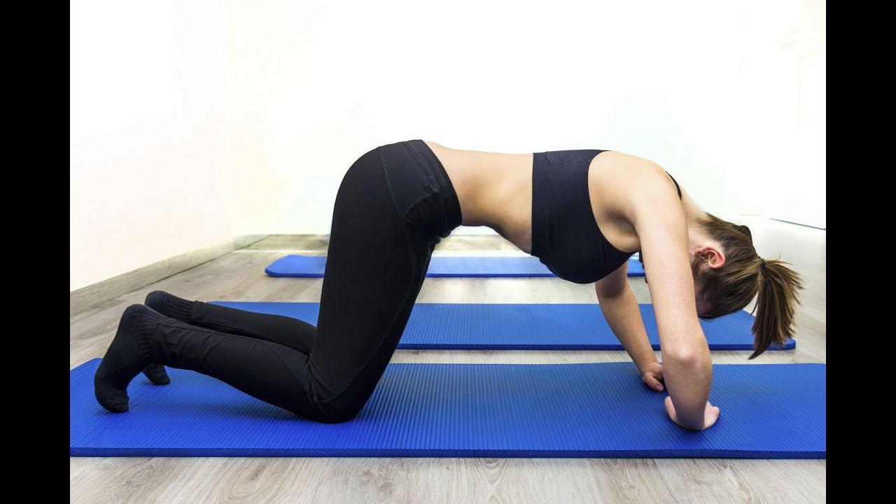 Ejercicio hipopresivo en cuadrupedia | Gimnasia posparto para el abdomen