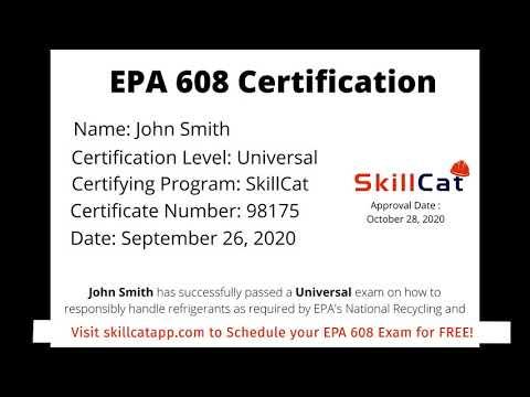100% Online EPA 608 Certification Course | FREE EPA 608 ...