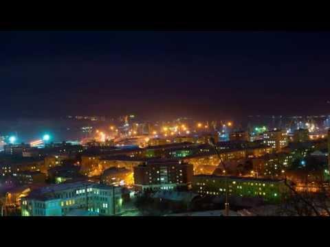 Мурманск в полярную ночь Timelapse 4K Baraban video 2015