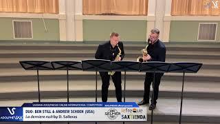 DUO B. STILL & A. SCHOEN play La derniere nuit by D. Salleras #adolphesax