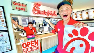 I Built a REAL Chick-fil-A in my House!!!