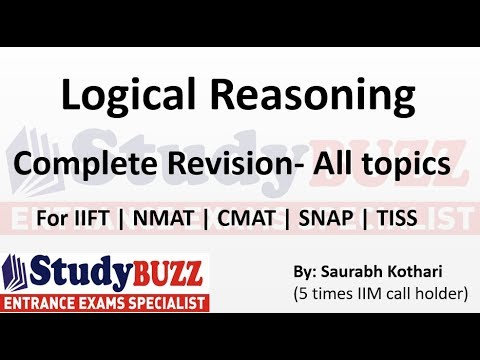Complete revision of all Logical Reasoning topics for SNAP, CMAT, NMAT, TISS & IIFT exam
