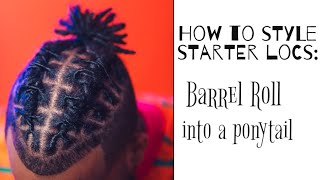 How To Style Short Starter Locs
