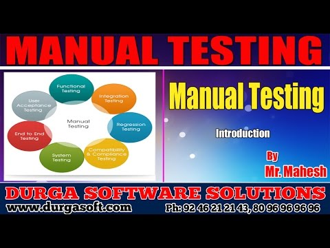 Manual Testing   Introduction by Mahesh