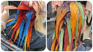 Colorful Hair Ideas 💙Rainbow Color Hair Transformation! Hairstyle Tutorials Compilations #13