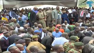 Mudavadi, Wetangula arrival at Bukhungu Stadium causes confusion at the Kakamega BBI meeting.
