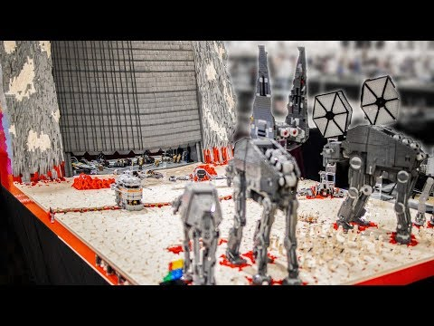 The Battle of Crait in LEGO (4K Quality)