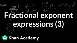 Fractional Exponent Expressions 3