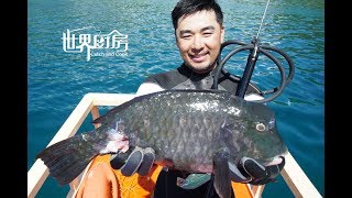 第74集:菲律宾潜水捕猎巨型鹦鹉鱼 Spearfishing get giant Parrotfish in Palawan ,Philippines