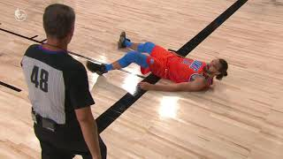 Watch Steven Adams Fail At Flipping Up From The Floor During Game