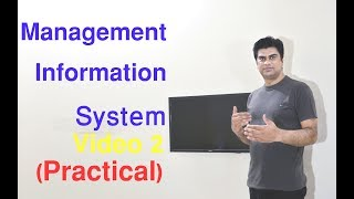 Management Information System Video 2 (Practical) in Hindi  हिंदी Urdu With Examples
