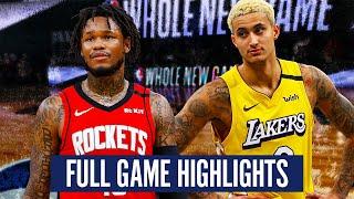 LOS ANGELES LAKERS vs HOUSTON ROCKETS - FULL GAME HIGHLIGHTS | 2019-20 NBA SEASON